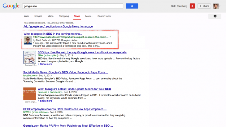Matt News 730x410 Google debuts updated Authorship program and adds embeddable posts, all using Google+ Sign In
