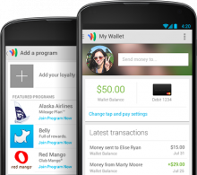 MyWalletGoogle 220x195 Googles rolling out a new Wallet app for Android users in the US this week