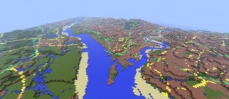 Minecraft map of Southampton Water