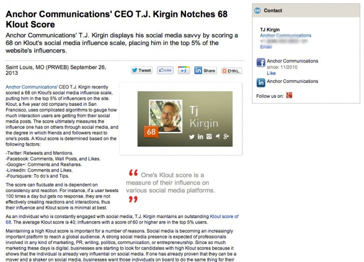 Screen Shot 2013 09 27 at 12.41.42 PM 730x525 Breaking news: Man has a Klout score of 68