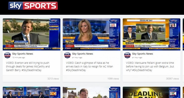 Screenshot 2 730x391 Grabyo now helps broadcasters share their own TV clips in real time, kicking off with Sky Sports