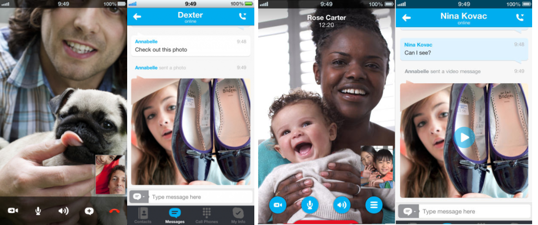 Skype iOS7 combi Before and after: The best iOS 7 app redesigns