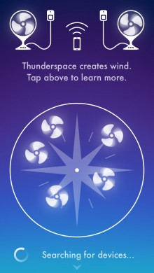 Thunderspace 1 220x390 Thunderspace syncs with your fan to add 'real' wind to the thundery weather soundscape app