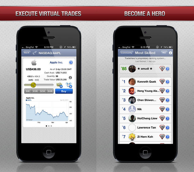 TradeHero Not just a game: stock market app TradeHeros secret to standing out is value added information