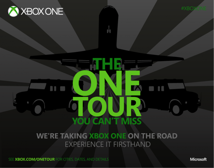Xbox One Tour Main 730x572 Microsofts Xbox One tour kicks off October 1, coming to over 75 cities in the US, Canada, and Europe