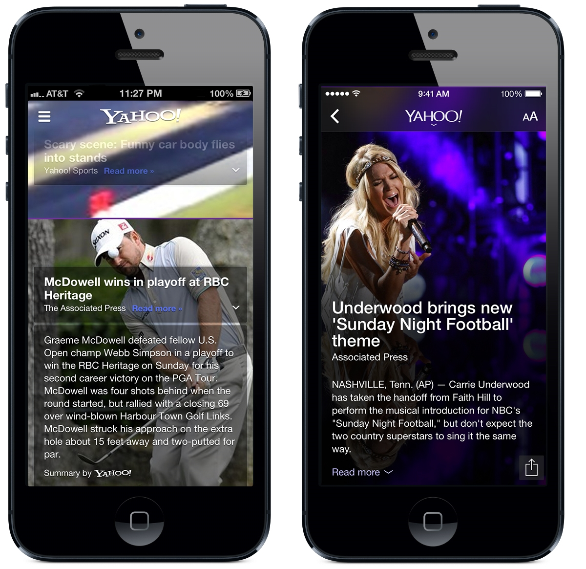 Yahoo iOS7 Before and after: The best iOS 7 app redesigns