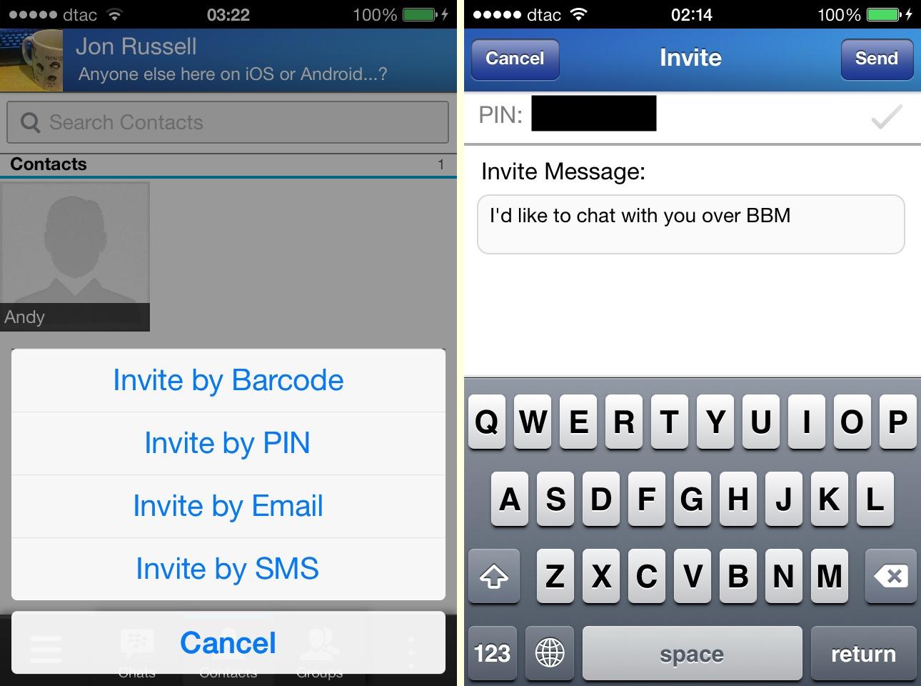 Hands-On: BlackBerry Messenger for iOS