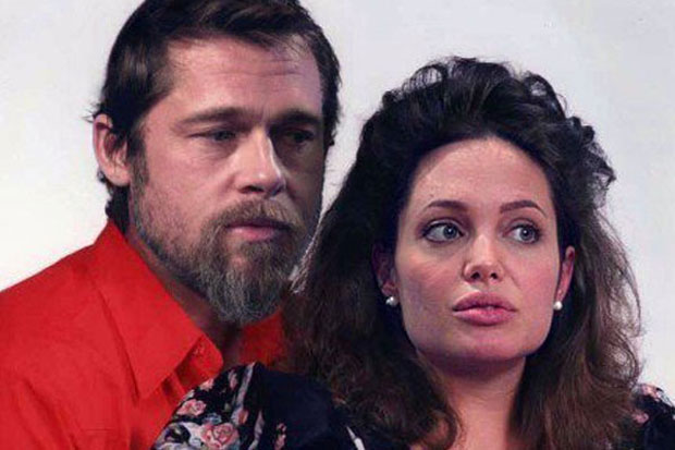 angelina jolie brad pitt celebrity make unders danny evans Photoshop work at its best: Artist transforms celebrities to show you what they would look like as normal people