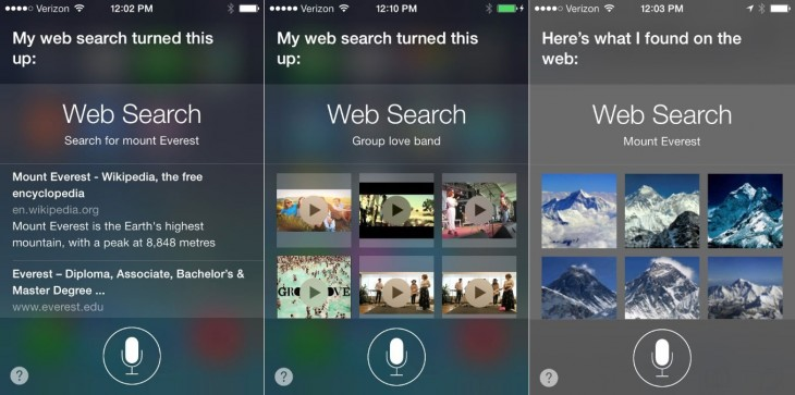 bing02 730x363 Microsoft releases updated Bing for iOS app that brings search results right into Siri