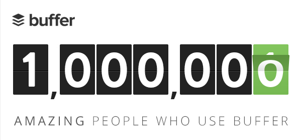 buffer Social media planner Buffer passes 1 million registered users, as it approaches its 3rd birthday