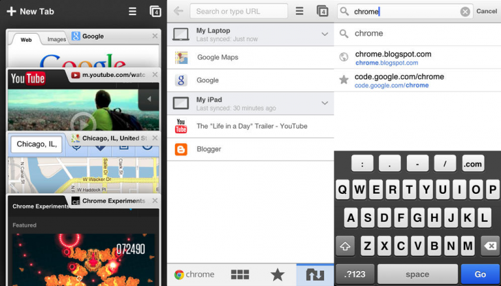 chrome ios 730x416 Chrome 30 for iOS is out: New iOS 7 design, requires iOS 6 or higher, links to Google Maps and Gmail apps