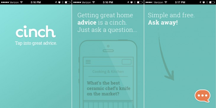 cinch01 730x364 Klout launches Cinch, a Quora like iOS app tied to your personal graph