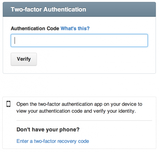 github 2fa 520x498 Code sharing site GitHub now offers two factor authentication to its users