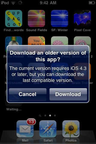 image Apple begins allowing users running legacy iOS builds to download older versions of apps