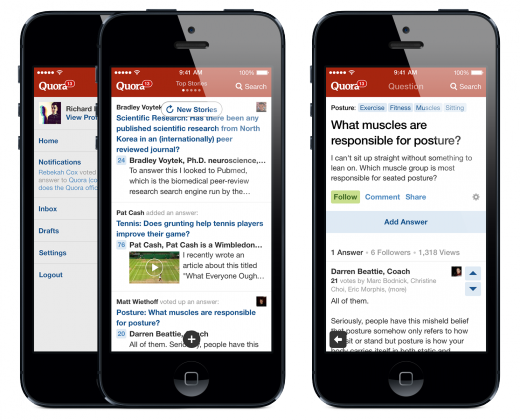 image2 520x420 Quora dives into iOS 7 as its app focuses on faster discovery, reveals iPad version coming this year