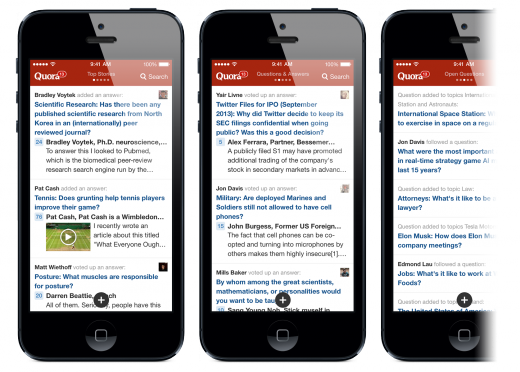 image3 520x372 Quora dives into iOS 7 as its app focuses on faster discovery, reveals iPad version coming this year
