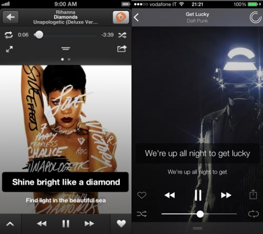 musiXmatch iOS7 Before and after: The best iOS 7 app redesigns