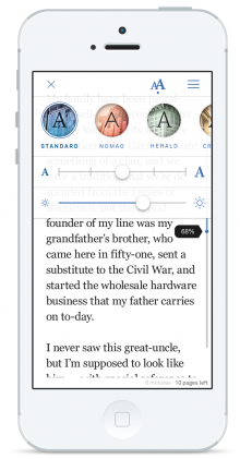 oyster 220x421 Oyster launches its all you can read ebook service for the iPhone with over 100,000 titles