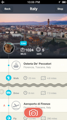 rove iphone5 0002 skr 3 220x390 Stylish location diary app Rove now lets you share your trips, and track yourself when offline