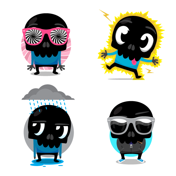 skullington Design that sticks: Meet the designers behind the mobile messaging sticker craze