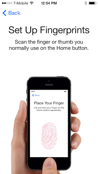 touchid scan Hands on with Apples Touch ID: Thumbs up for fingerprint sensors