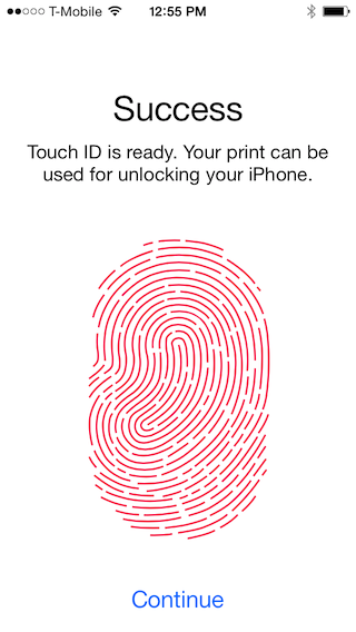 touchid success Hands on with Apples Touch ID: Thumbs up for fingerprint sensors
