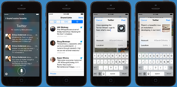 twitter ios 7 Twitter updated for iOS 7 with Twitter #music station on iTunes Radio, Siri search, and Safari integration