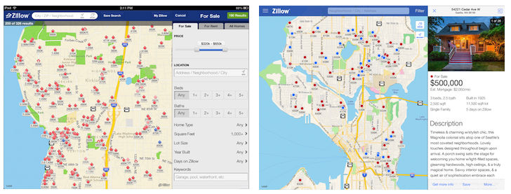zillow beforeafter Before and after: The best iOS 7 app redesigns