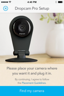 4S Dropcam MobileSetup 220x330 Dropcam's new $199 Pro camera offers vastly improved optics and a Bluetooth LE hub
