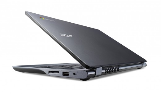 Acer Chromebook previewed at IDF rear view half closed 520x303 Acer launches $249 Haswell powered 11.6 inch C720 Chromebook with 8.5 hour battery life and 16GB SSD