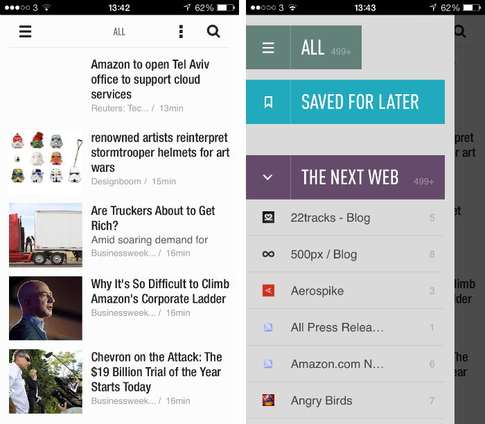 Feedly1 10 must have iPhone apps for keeping on top of the news