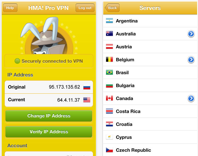 HMA Pro VPN service HideMyAss now has its own dedicated iOS app, but youll still need a subscription