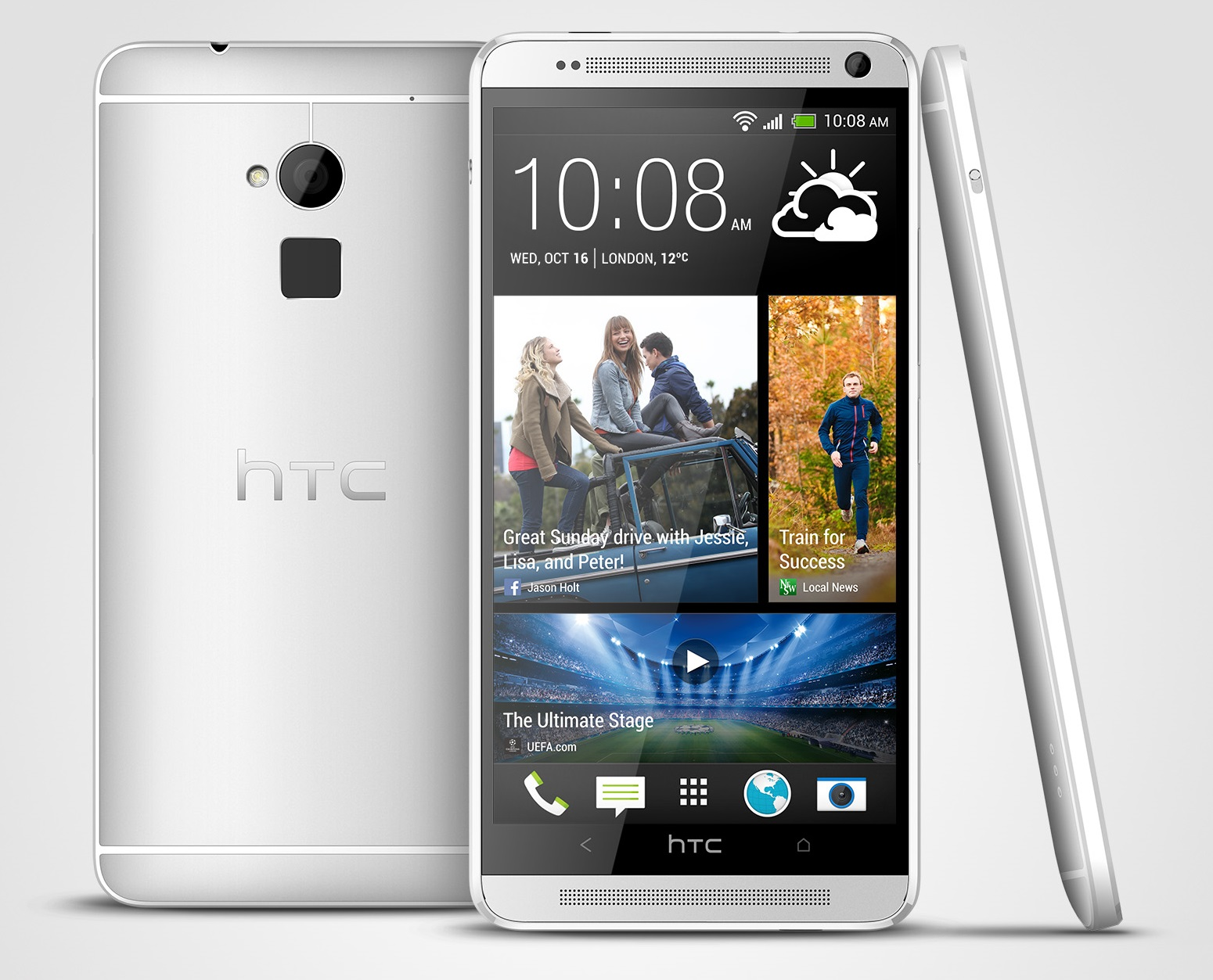 HTC One max Glacial Silver 3V HTC introduces One max with fingerprint sensor, 5.9 inch display and Sense 5.5