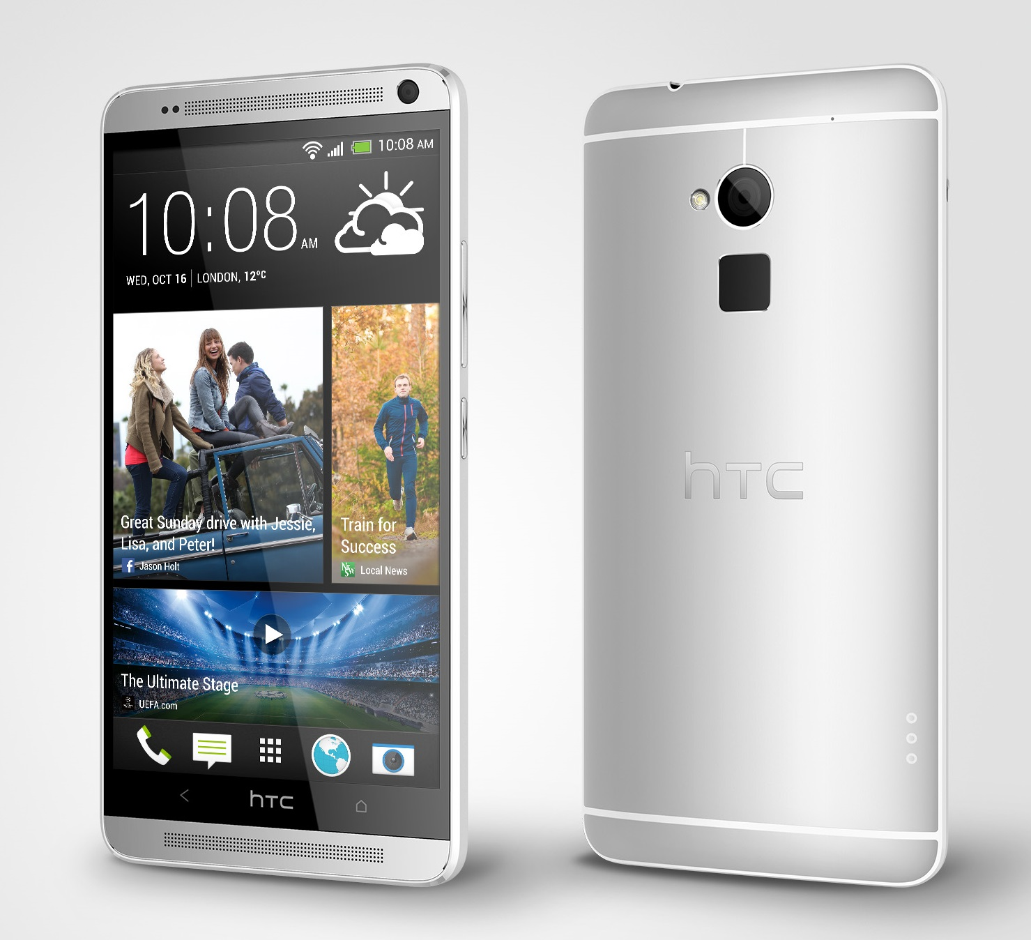 HTC One max Glacial Silver Perspective Right HTC introduces One max with fingerprint sensor, 5.9 inch display and Sense 5.5