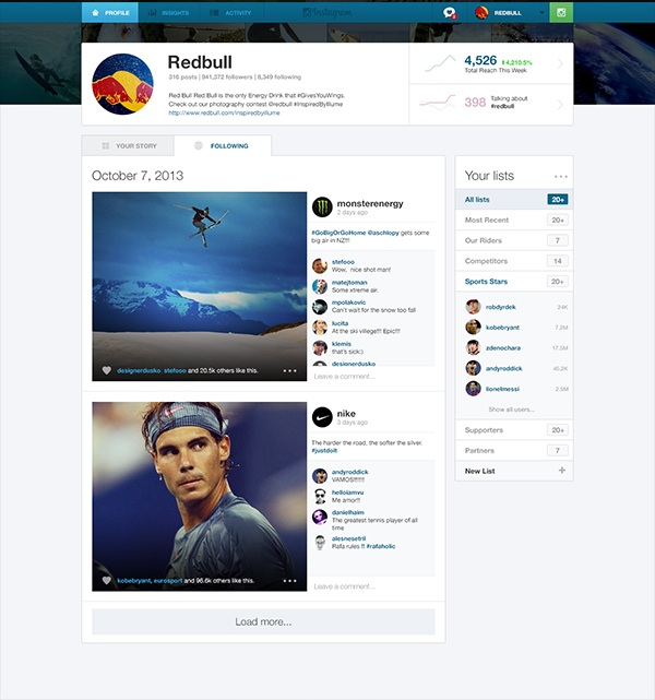 Instagram Business 2 This design concept shows how useful a dedicated Instagram Web app for businesses would be