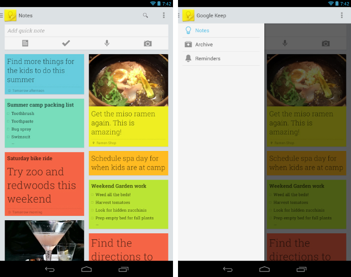 Keep1 30 of the most beautiful and well designed Android apps