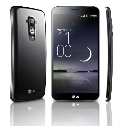 LG GFlex 1 520x515 LGs G Flex is official: A 6 inch curved screen smartphone with a 13 megapixel camera