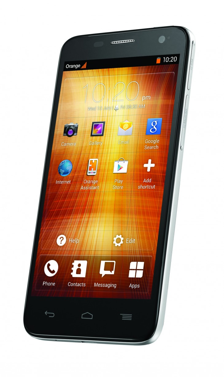 Orange Hiro Front with Homescreen in Easy Mode 730x1225 Orange aims 4G Android powered Yumo and low cost Hiro at Europe, but UK residents need not apply