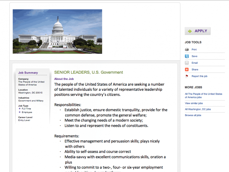 Screen Shot 2013 10 14 at 1.46.22 PM 730x551 Now hiring: Senior leaders for the U.S. government
