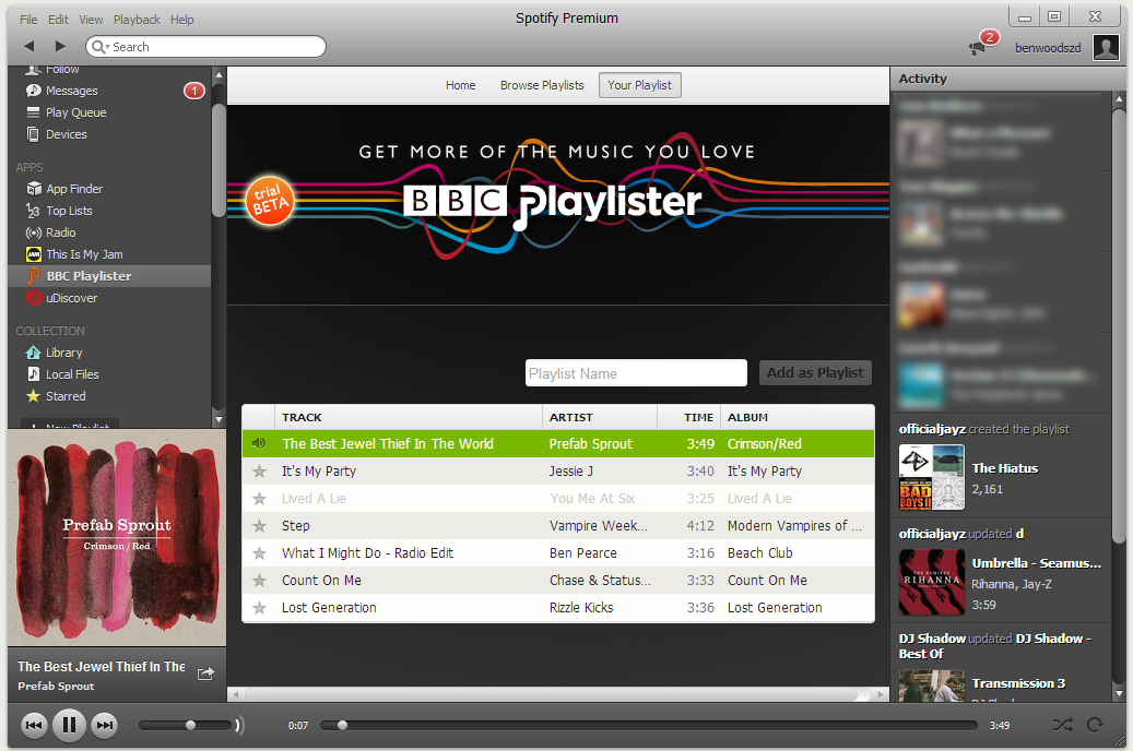 Spotify playlister2 How to use the BBCs new Playlister music service