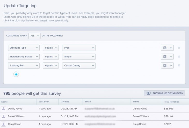 Surveys targeting1 730x497 Mixpanel rivals SurveyMonkey with launch of new mobile app survey feature