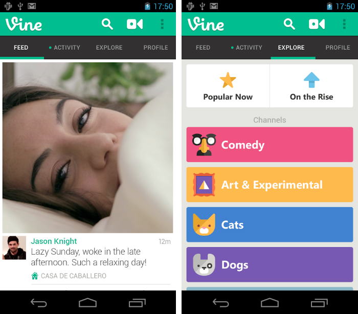 Vine1 30 of the most beautiful and well designed Android apps