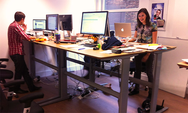 YPlan Flying Desks Startup spaces: How to design your startup office for a productive workforce