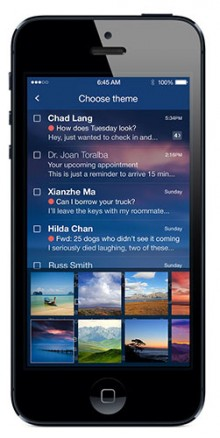 Yahoo Mail 220x438 Yahoo revamps Mail with fresh look, threaded conversations and 1TB of storage