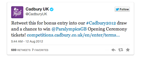 cadbury tweet A scientific guide to writing great headlines on Twitter, Facebook and your blog