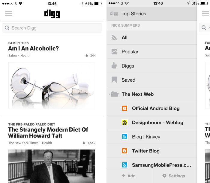 digg1 10 must have iPhone apps for keeping on top of the news