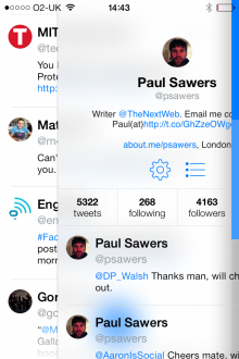 f1 220x330 Tweet7: A clean, no fuss iPhone Twitter client built with iOS 7 in mind