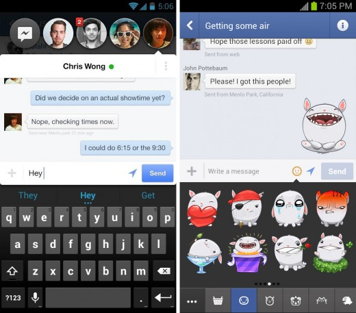 facebookmessenger 520x457 22 of the best mobile messaging apps to replace SMS on your smartphone