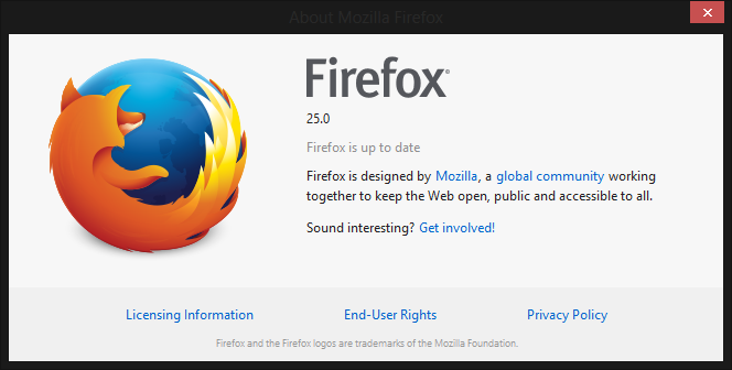 firefox 25 You can download Firefox 25 for Windows, Mac, and Linux right now; official launch tomorrow