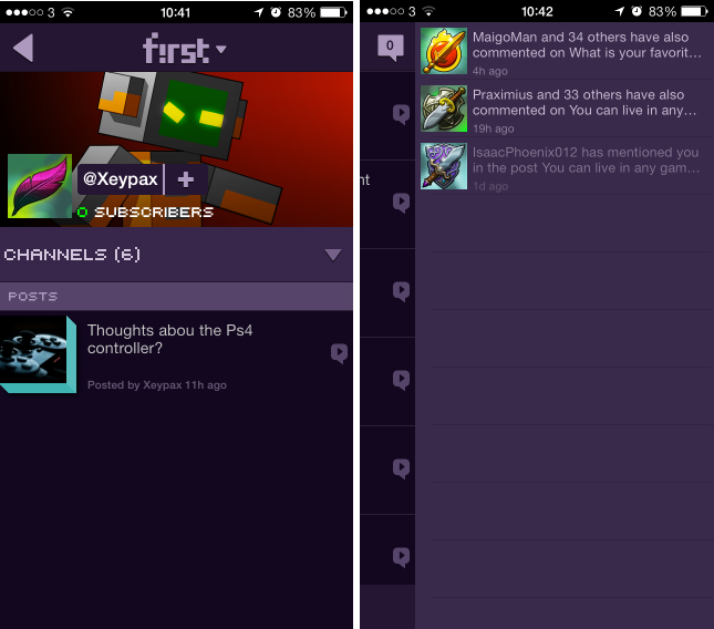first3 Gamers, unite: First is a slick, 8 bit inspired community mobile app for discussing video games